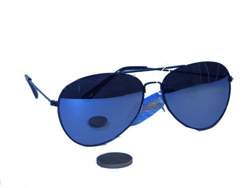 Pilotenbrille mit verspiegelten Gläsern * Der Klassiker der 70er und 80er Jah... (Herr Ben Kostüme)