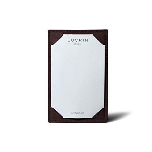 Lucrin - Ecritoire - cuir de vachette lisse - Naturel Bordeaux