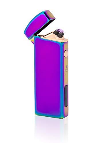 TESLA Lighter T14 | Lichtbogen-Feuerzeug elektronisches USB Feuerzeug Rainbow