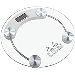 Skycandle White Electronic Personal Weighing Scale with glass top