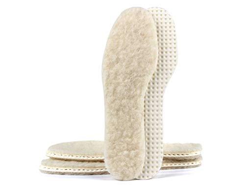 biped 3 paires de semelles en laine d'agneau - avec fond en latex naturel z2389(42)
