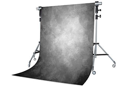 WaW 1.5x2.2m Fotostudio Hintergrund Grau Farbverlauf Feather Textur Hintergründe fur Vintage Porträt Fotoshoot