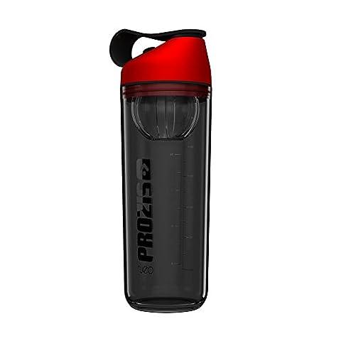 Prozis Neo Mixer Bottle Smoke 600 ml - Shaker de protéine couleur Elite Red avec capsule interne : Résistant aux chocs, sans BPA, sans odeur et 100 %