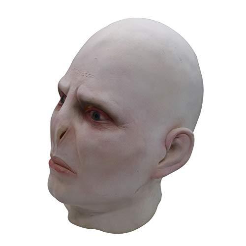 Kind Voldemort Lord Kostüm - XUMING Halloween Scary Skull Mask, Lord Voldemort, ganzer Kopf ohne Haare, weich und bequem für Erwachsene Party Cosplay Dekoration Zubehör