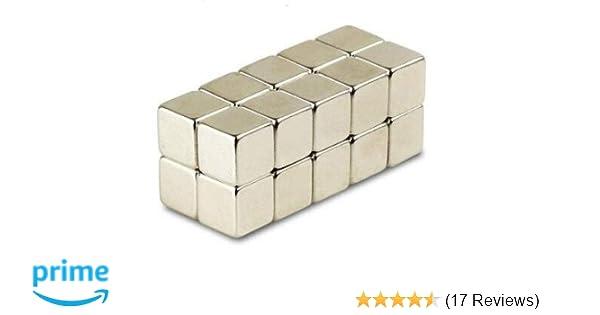 50 Stück Neodym Würfelmagnete Magnetwürfel 8x8x8 mm N45 vernickelt