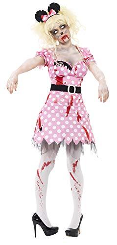 Smiffys, Damen Zombie-Maus Kostüm, Kleid, Gürtel und Haarband, Größe: S, 41027