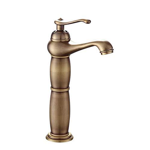 Retro europäische Plattform Waschbecken Wasserhahn Antik Waschbecken Wasserhahn Kalt- und Warmwasserarmatur -