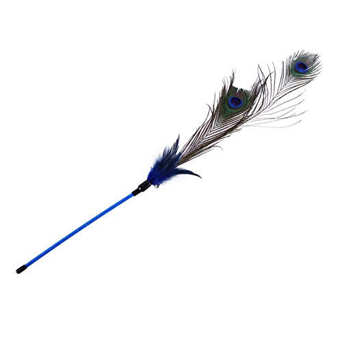 Cat Stick - Pet Cat Feather Toys Stick Peacock Hair Acrylic Orange Durable Interesting Feathers Interactive Toy - Track Made Seek Girl Make Motion Sale Leather Package Treats Accessories S (Birds Brooch Love)