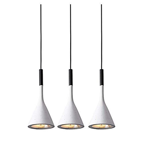Suspension LED béton Suspension Lampe béton E14 esstischlampe Suspension Table Industrie Lampe béton Lampe suspension pour salon chambre de travail Bureau Bar, cuisine ou couloir Antiquité blanc chaud