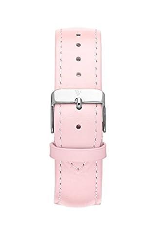 Paul Valentine Bracelet de Montre | Rose en cuir véritable bracelet de montre