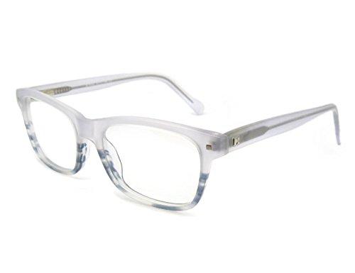 OCCI CHIARI Optische Brillen Rahmen Modische stilvolle flexible Rechteck Metall Rezept Brillen Rahmen mit Federscharnier und klare Objektive für Männer...