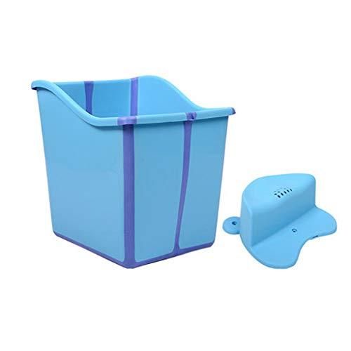 LXP Baignoire Pliante Portable De Bain pour Adultes  Seau Grand en Plastique avec Couvercle Garder Au Chaud À La Maison Plein Body Piscine pour Enfants Épaissir La Baignoire en Plastique À La Maison
