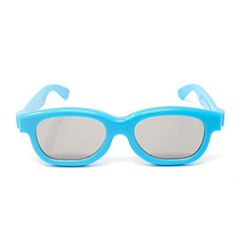 4 Pairs of Kids 3d Glasses 2 Blue 2 Red Universal Pairs of Passive 3d glasses for children kids for use with all Passive 3d TVs Cinemas and Projectors such as Imax LG Toshiba and Panasonic