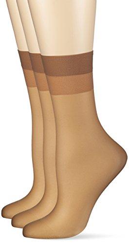 Hudson Damen 030044 Socken, 15 DEN, Beige (Make-Up 0019), 35/38 (3erPack)