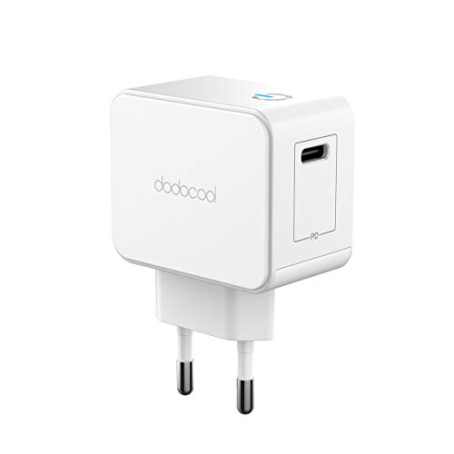 dodocool Cargador de Pared Rápido USB Tipo C PD con 30W Power Delivery, Adaptador de Carga Rápida para Apple MacBook/iPad Pro/iPhone X/XS/XR/8 Plus/8/Nintendo Switch/Google Chromebook Pixel, Más
