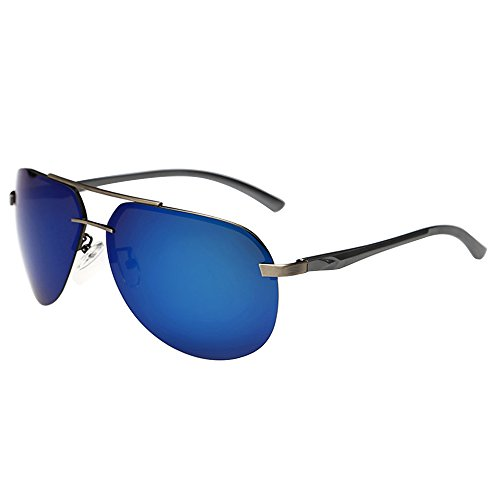 Bluelans® Polarisationsbrille Sportsonnenbrille Polarisierte Sonnenbrille Herren Treiber Glasses (Blau)