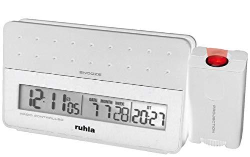 ruhla digitaler Funk Wecker mit Zeit Projektion Tag Datum Woche und USB Handy Ladestation