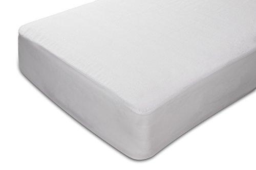 Sunlay - Protector de colchón rizo, 100%algodón, impermeable, 80x190/200cm-Cama 80 (Todas las medidas)