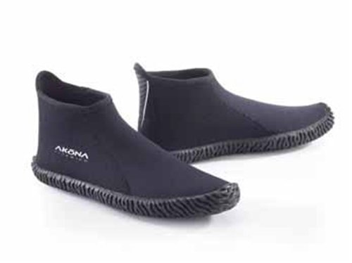 Akona 3.5mm Low Cut Boot, booties for Scuba Diving, kayaking, spearfishing, snorkeling, boat shoes, deck shoes, water shoes, 9