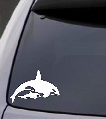 Wandaufkleber Kinderzimmer wandaufkleber 3d Autofenster Kleiner Aufkleber Schönheit Mode Für Auto Orca Killerwal Mit Baby Kalb Aufkleber -
