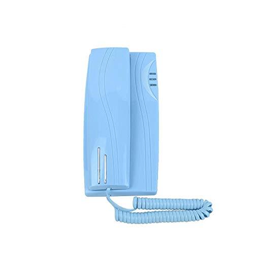IhDFR Telefon-Anrufer-ID, fest installiertes Telefon für die Wandmontage Schnurgebundenes Wandtelefon (Farbe : Blau)