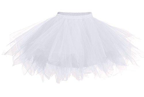 aimerfeel weiß Geschichteten Petticoat/Tutu für Korsett/Kostüm,