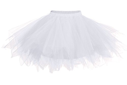 weiß geschichteten Petticoat / Tutu für Korsett / Kostüm,
