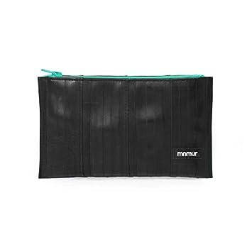 Unisex Kupplung schwarz und grün. Reißverschluss Beutel. Veranstalter Tasche/Reise Tasche/Handtasche/Clutch aus…