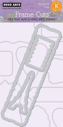 Hero Arts Cupcake Rahmen Stempel, grau, grau, 6 x 2.5 cm -