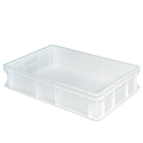 Euro Stapelbehälter, Industriequalität, lebensmittelecht, LxBxH 600 x 400 x 130 mm, weiß