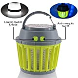 Mosquito Killer Electric Lamps USB Chargeable Bug Zapper Mosquito Traps Kill Mosquito Repellent Waterproof Fly Trap Pest Contral : Green