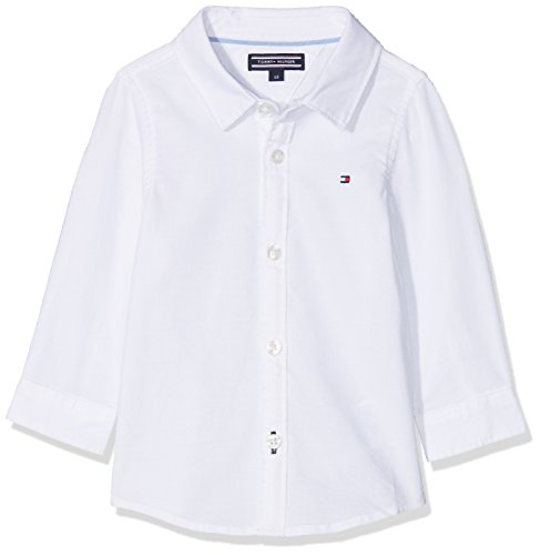 Tommy Hilfiger Baby-Unisex Bluse Delightful Oxford Boy Shirt L/S, Weiß (Bright White 123), 74