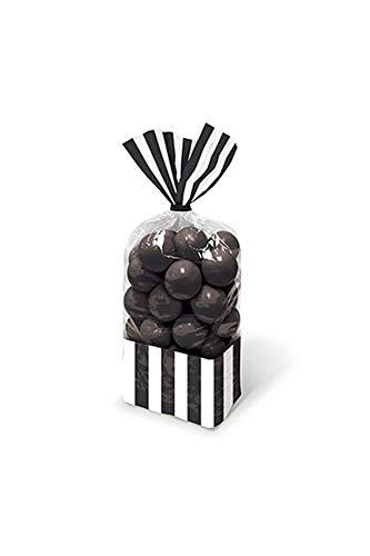 Amscan Gestreifte Süßigkeitentütchen, Schwarz (Candy Schwarz Lila Und)