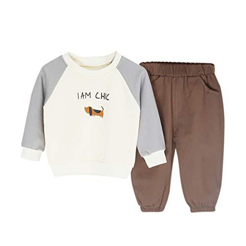 Kinder Britische Roten Kostüm Mantel - Isshop Baby Kostüm Kleinkind Kinder Baby Boy Cartoon Runden Kragen Sweatshirt Lange Hosen Outfits Set Casual Comfort Set für Jungen und Mädchen