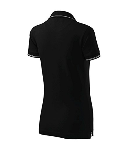 Dress-O-Mat Damen Poloshirt T-Shirt Polohemd Tailliert Schwarz