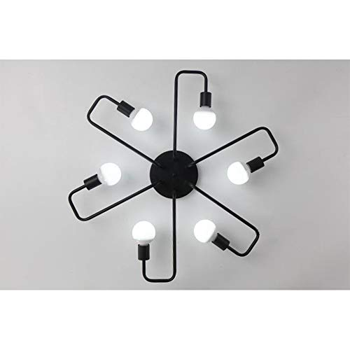 WBHD Deckenlampe Schlafzimmer,LED Deckenleuchte Wohnzimmerlampe Kronleuchte Kinderzimmer Lampe Esszimmerlampe Schlafzimmerlampe Badezimmerlampe Flurlampe E27(Ohne Lichtquelle), 6 Lights -