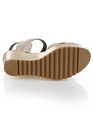 Damen Sandalette by Alba Moda beige/goldfb.