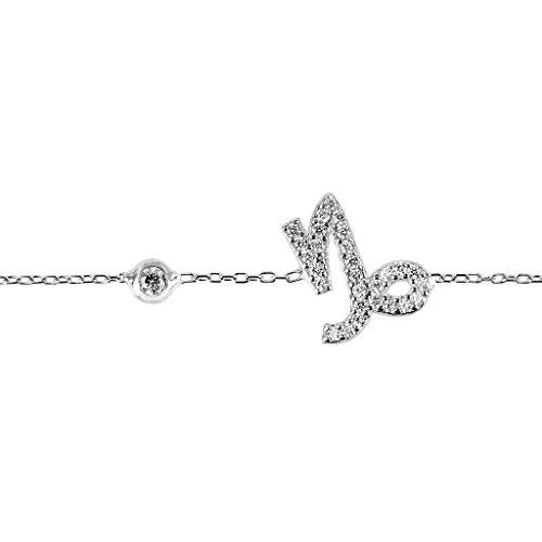 Capricorn Zodiac Bracelet Silver/One Size