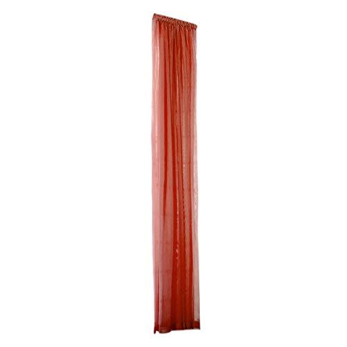 Reru Vorhang Reine Farbe Tüll Tür Vorhänge Schiere Schal Valances Tüll Für Zimmer J 200 cm x 80 cm (Rüschen-gardinen Lila)