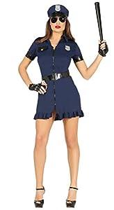 FIESTAS GUIRCA Agente de policía Traje de la policía Estadounidense