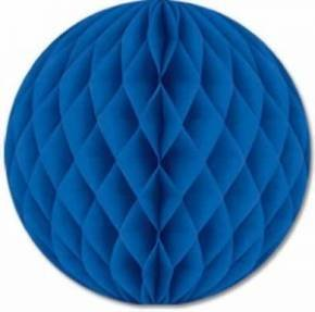 9 x Hochwertige Wabenbälle (20cm) in 14 Farben verfügbar für Partys, Hochzeitsdekor , usw. (Blau)