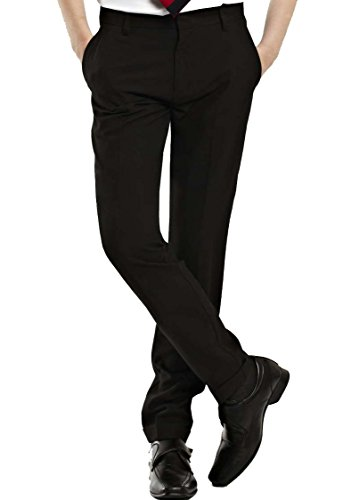 4D-Uniforms Boys SLIM FIT SLIM Leg-ELASTICATED BACK Trousers 5-13yrs (12-13yrs(29