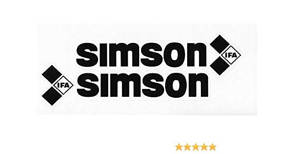 Supersticki 2x Simson Ifa Logo Ca 20cm Motorrad Aufkleber Bike Auto Racing Tuning Aus Hochleistungsfolie Aufkleber Autoaufkleber Tuningaufkleber Hochleistungsfolie Für Alle Glatten Flächen Auto