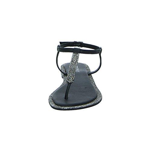 BOXX BOX06-M17 Damen Sandalette bis 30mm Absatz Schwarz (Schwarz)