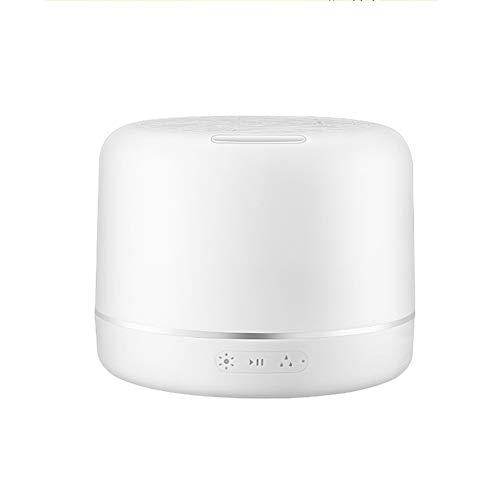 NCBH Bluetooth Subwoofer Desktop Nachtlicht Bluetooth Lautsprecher Leselicht Tragbare Lampe 7 Farben Luftbefeuchter Aromatherapie Stereo (500 ml)