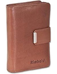 Rimbaldi®–Portefeuille compact pour femme avec beaucoup de place en cuir de vachette naturel, marron (marron) - 2041607