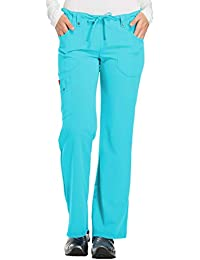 c4b8352f471 Dickies Womens Xtreme Stretch Mid Rise Drawstring Cargo Pant Solid Opaque  Medical Scrubs Pants