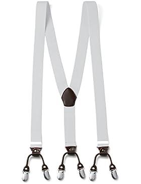 [Sponsorizzato]FydRise Bretelle Uomo Y Forma con 6 Forte Clips Elastici Regolabile Larghezza 3.5cm Lungo 120cm