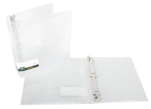 Filexec Products 1.5-Inch 3 Ring Binder, D Ring, Clear, Pack of 2, (50302-62233)