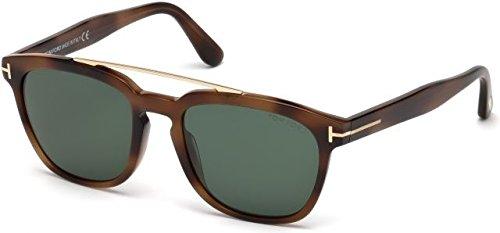 Tom Ford Unisex-Erwachsene FT0516 53N 54 Sonnenbrille, Braun (Avana Bionda/Verde),